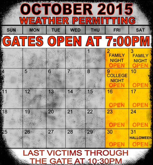 2014 Dates & Hours of Operation